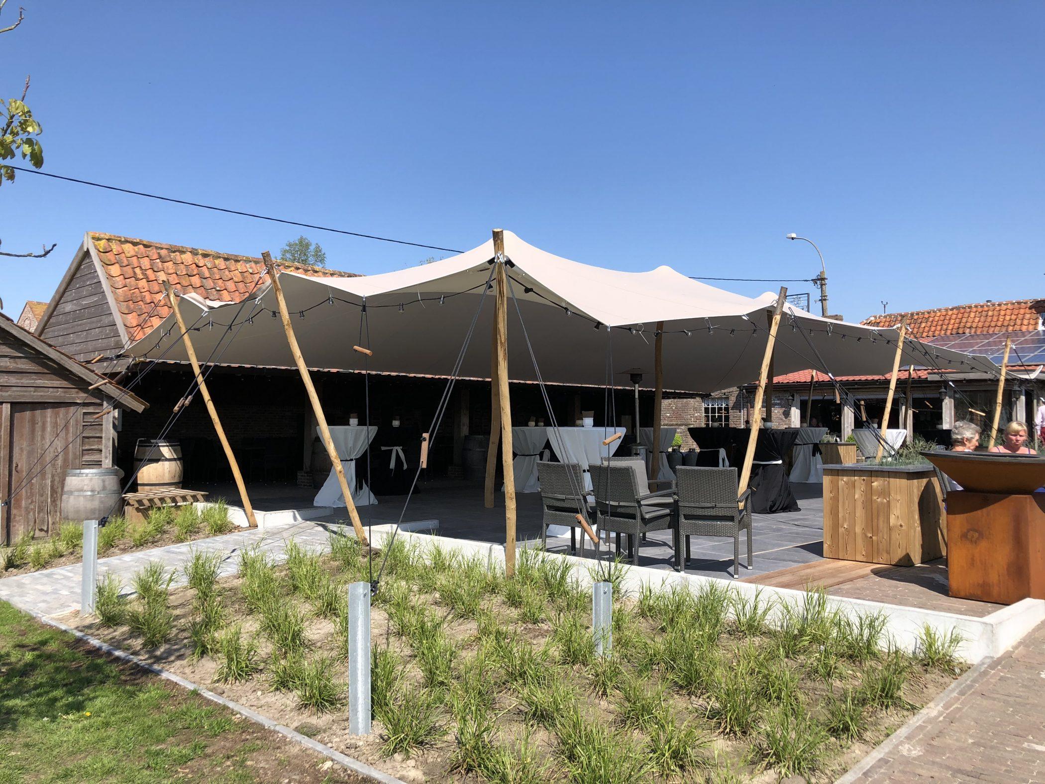 Tent Overkapping Tuin : Standaard stretchtenten triple s tents